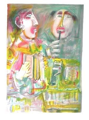 Lithographie Mentor - Le duo musical