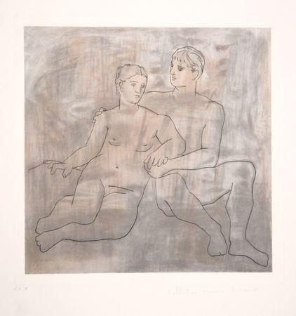 Lithographie Picasso - Le Entretien