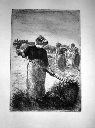 Eau-Forte Pissarro - Le Faneuses