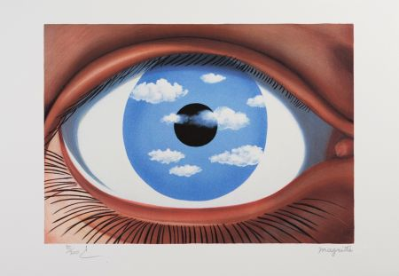 Lithographie Magritte - Le Faux Miroir (The False Mirror)