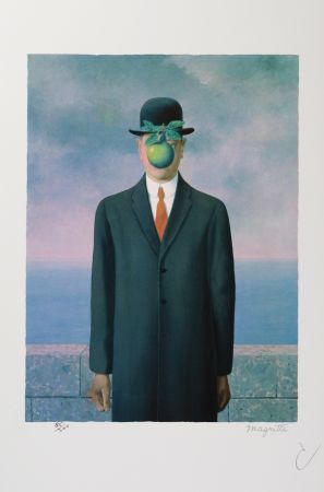Lithographie Magritte - Le Fils De L'Homme (The Son Of Man)
