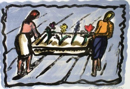 Lithographie Bartolini - Le Fioraie