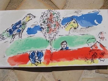 Lithographie Chagall - Le fleuve vert