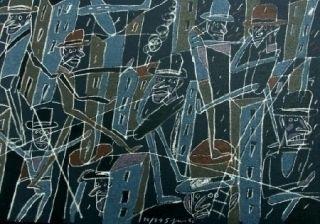 Lithographie Segui - Le froid bleu des contre-nuits