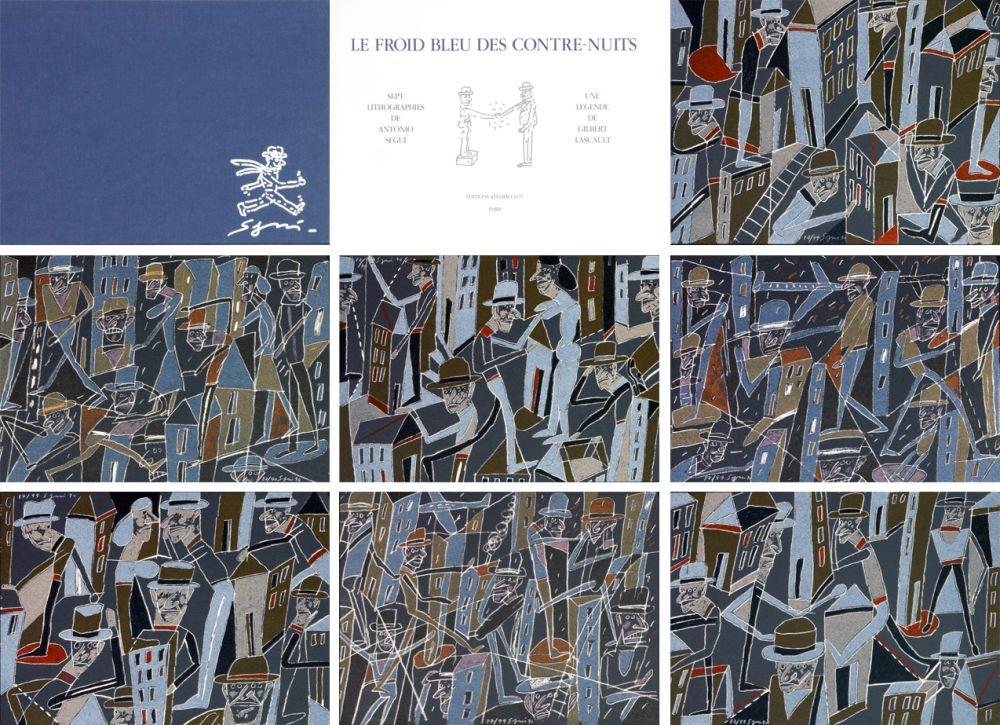 Lithographie Segui - Le froid bleu des contre nuits 7