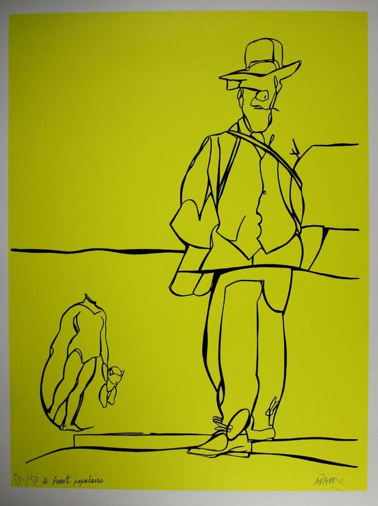 Lithographie Adami - Le front populaire