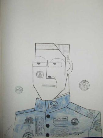 Lithographie Steinberg - Le Général