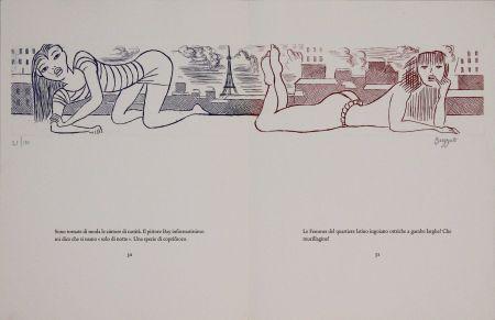 Eau-Forte Buzzati - Le gambe di Saint Germain