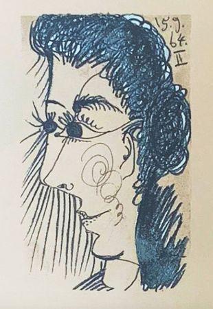 Lithographie Picasso (After) - Le Goût du Bonheur - Femme de profil (1964)