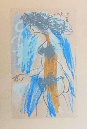 Lithographie Picasso (After) - Le Goût du Bonheur - Nu féminin debout (1964)