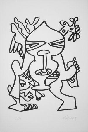 Lithographie Lapicque - Le Grand Chef