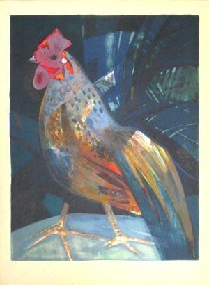 Lithographie Hilaire - Le grand coq