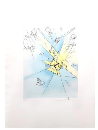 Lithographie Dali - Le Grand Inquisiteur Expulse le Sauveur