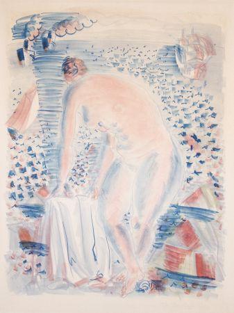 Lithographie Dufy -  Le grande Baigneuse (The large Bather)