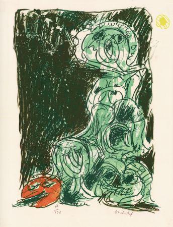 Lithographie Alechinsky - Le hasard et sa mère