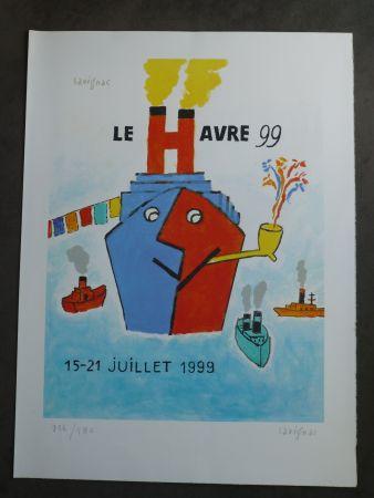 Lithographie Savignac - Le Havre 1999