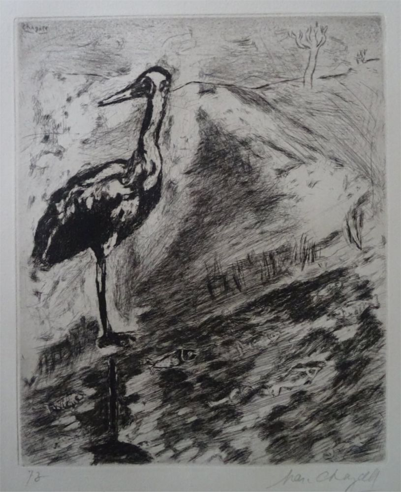 Eau-Forte Chagall - Le Heron
