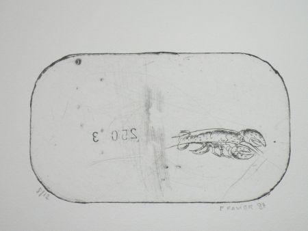 Eau-Forte Favier - Le homard (série des mousselines)
