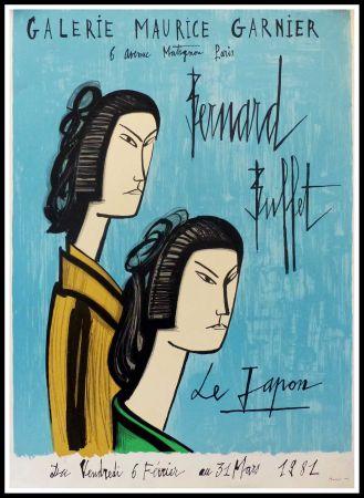 Affiche Buffet - LE JAPON - GALERIE MAURICE GARNIER