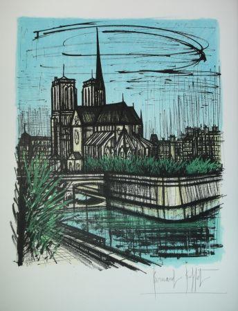 Lithographie Buffet - Le Jardin de L'evéché