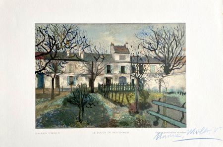 Gravure Sur Bois Utrillo - Le Jardin de Montmagny