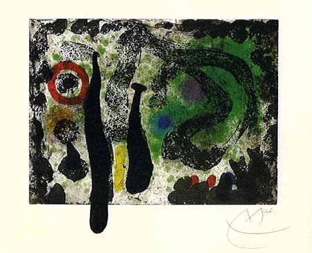 Aquatinte Miró -  Le Jardin de Mousse (1968)