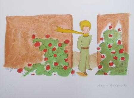Lithographie Saint-Exupéry - Le jardin des roses
