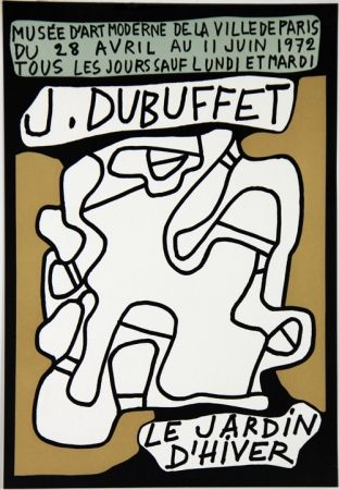 Lithographie De Jean Dubuffet Le Jardin D Hiver Musee D Art Moderne