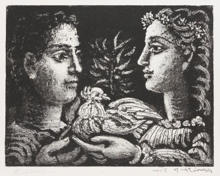 Lithographie Picasso - Le Jeneusse
