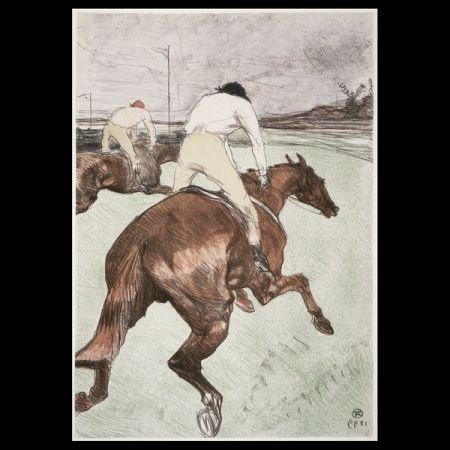 Lithographie Toulouse-Lautrec - Le jockey