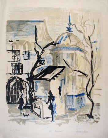 Lithographie Martin - Le Kiosque