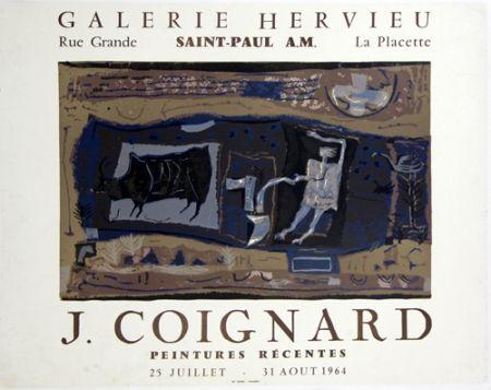 Lithographie Coignard - Le Laboureur Galerie Hervieu Saint Paul