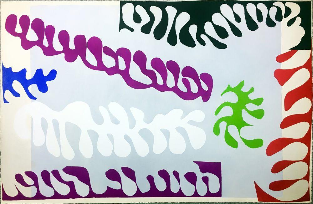 Aucune Technique Matisse - LE LAGON. Pochoir original de Jazz (Album 1947)