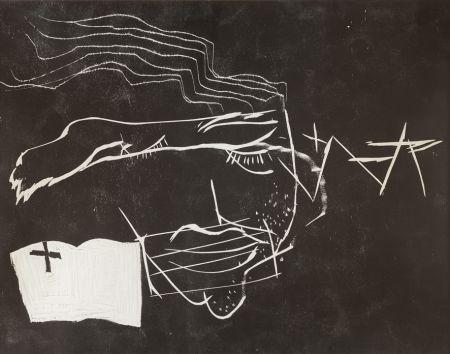 Gravure Sur Bois Tàpies - Le lecteur