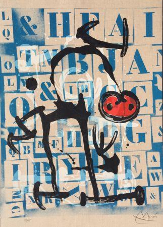 Lithographie Miró - Le Lettre - Rouge
