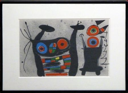 Lithographie Miró - Le Lezard aux Plumes d'Or