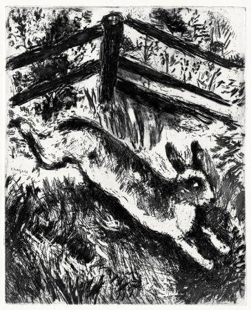 Eau-Forte Chagall - Le Lièvre et les Grenouilles, 1927-1930