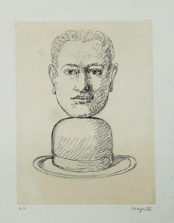Eau-Forte Et Aquatinte Magritte - Le lien de paille (Man with a Bowler Hat)