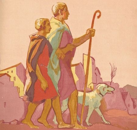 Livre Illustré Denis - Le Livre de Tobie, Traduit sur la Vulgate.Illustrations de Maurice Denis, Gravées sur bois par Jacques Beltrand