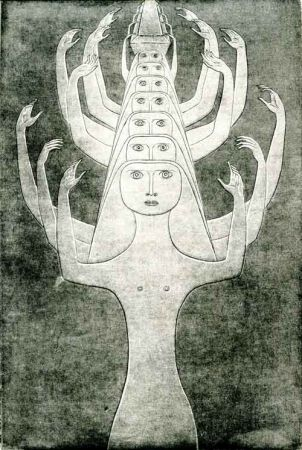 Eau-Forte Prinner - Le Livre des morts des Anciens Egyptiens.