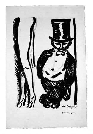 Lithographie Van Dongen - Le Lorgneur (Henri Toulouse Lautrec)