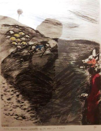 Eau-Forte Chagall - Le loup devenu berger