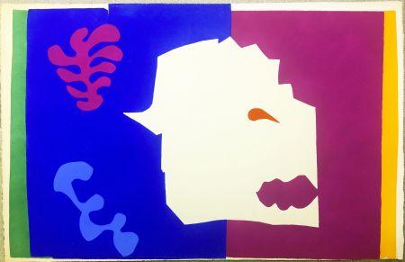 Pochoir Matisse - LE LOUP. Pochoir original de Jazz  (Album 1947)