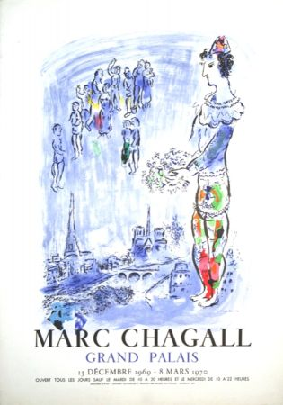 Lithographie Chagall - Le Magicien