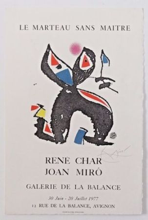 Gravure Miró - LE MARTEAU SANS MAÎTRE
