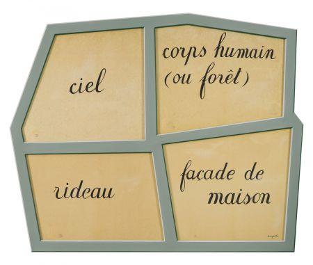 Lithographie Magritte - Le Masque Vide
