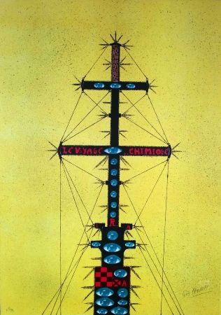 Lithographie Harloff - Le mat de bateau