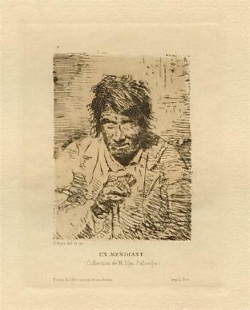 Gravure Goya - Le mendiant (The Beggar)