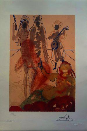 Lithographie Dali - Le mille e una notte (Il Sultano)