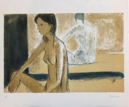 Lithographie Bardone - Le miroir